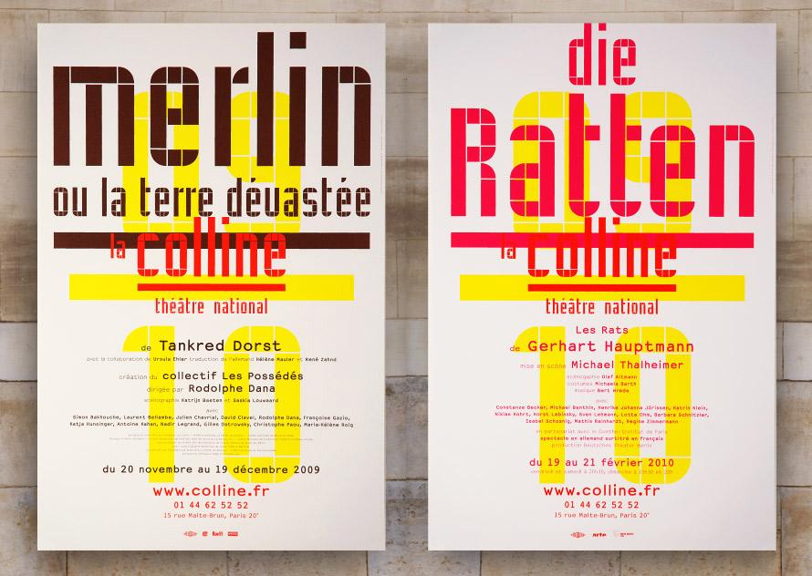 La Colline théâtre National 09/10 - Affiches