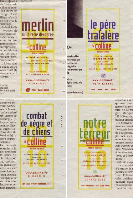 La Colline théâtre National 09/10 - Annonces