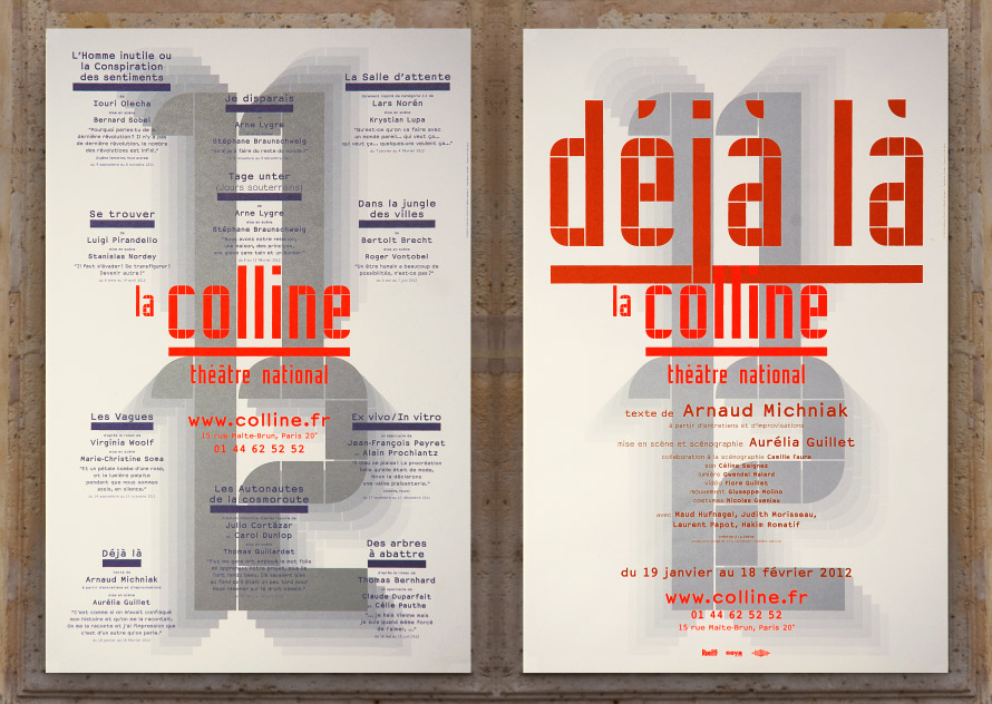 La Colline théâtre national 11/12 - Affiche