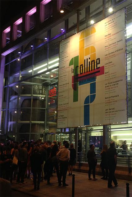 La Colline théâtre national 16/17 - Bâche sur la façade