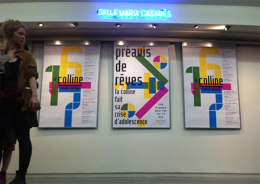 La Colline théâtre national 16/17 - Affiches